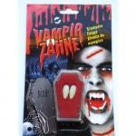 Vampier tanden op kaart