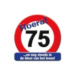 Huldeschild Hoera 75