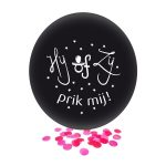 Ballon hij of zij zwart en roze