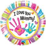 Folieballon I love you mummy