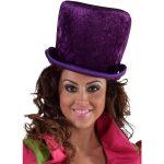 Hoge hoed paars