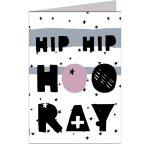 Wenskaart Paperbird Hip hip hooray