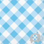 Baby shower blue servetten