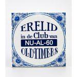 Tegel Delftsblauw Erelid club van 60