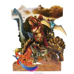 3D swing card Dinos