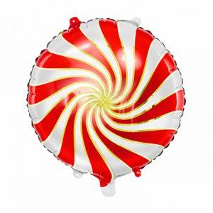 Folieballon swirl rood-goud