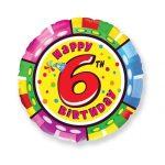 Folieballon Happy birthday 6