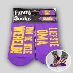 Funny socks Liefste oma