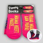 Funny socks Mama heeft pauze