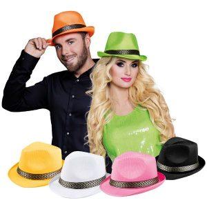Funky hoed assorti kleuren