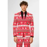 Opposuit kerstkostuum Winter Wonderland mt 52