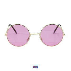 Bril hippie roze
