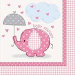 Baby shower pink servetten