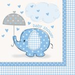 Baby shower blue servetten