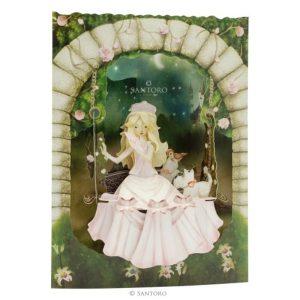 3D swing card Prinses op schommel