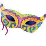 Folieballon Mardi Gras masker