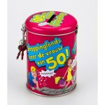 Spaarpot 50 jaar vrouw